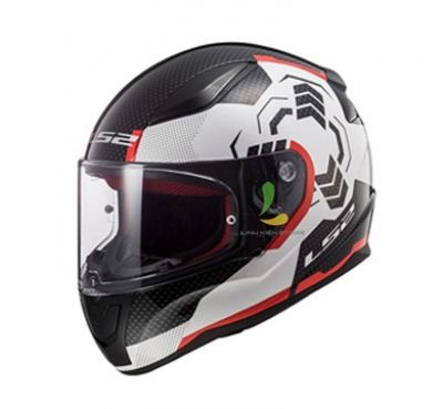 Mũ bảo hiểm fullface LS2 FF353 Rapid Ghost White Black Red